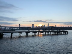 (MyChixpix) Tags: sunset eastriver newyork water sky clouds