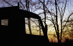 Alkonyat (nEjmEd) Tags: kodakvision3500t tungstenfilm ecn2 nikona12filter k1000 pentax tiszasüly winter colourfilm twilight