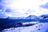 Experiment (adriencombes1) Tags: blue snow polar night norway tromso sea montain
