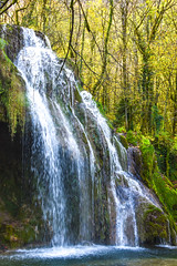 Waterfall in Jura (jmarnaud) Tags: france jura poligny 2017 autumn forest walk countryside waterfall colors