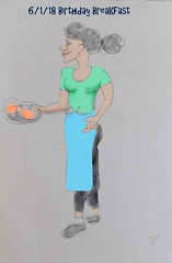 Birthday Breakfast treat (Robin Hutton) Tags: birthday breakfast treat robinhuttonart