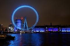 Turquoise London Eye (Bex.Walton) Tags: lumierelondon lumiereldn artichoketrust art lights illuminations london lightfestival architecture londonbynight night londoneye colour