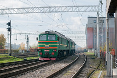 2M62-1003 Riga (rokiczaaa) Tags: latvia latvija riga ldz diesel locomotive station rail railway city architecture 2м62 2m62