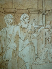 PRIMATICE - Le Banquet d'Alexandre (drawing, dessin, disegno-Louvre INV8569) - Detail 134 (L'art au présent) Tags: dessins disegni drawings people art details détail détails detalles italiandrawings dessinitalien italianpainters peintresitaliens renaissance dessins16e 16thcenturydrawings 16thcentury croquis étude study sketch sketches wash lavis museum france italie italy bollogne francescoprimaticcio leprimatice primaticcio myth mythe mythologie mythology soldier soldiers soldat man men repas meal lunch woman women festin food servant serveur domestique alexander table portraits portrait statue statues