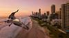 Startled by the drone (Emanuel Papamanolis) Tags: sunrise sea ocean water sky pelican mavicpro