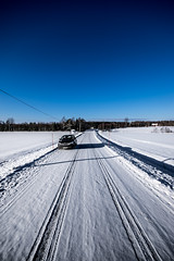 on tour in the snowy landskape (Mange J) Tags: citroën k3ii magnusjakobsson pentax sigma1020 sverige sweden värmland blue car clear forrest nature pentaxart transportation winter värmlandslän se sigma1020mmf456exdc sigma shadow shadows landscape