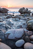Pastel Sunset, Porth Nanven Cove (Andrew Hocking Photography) Tags: porthnanven cove beach granite boulders coast cornwal seascape landscape sunset pastel stjust cotvalley landsend slowshutter longexposure godrays lightrays lowcloud diffused kernow