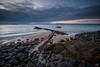 South Side of the Sky (ianrwmccracken) Tags: kinghorn wideangle nikon edinburgh sigma bay concerete rock island ianmccracken sea pettycur seaweed blue fife scotland tide d40x cloud 1020mm wave morning seascape landscape coast ian shore