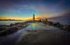 First Morning Lights (Simon Huynh) Tags: sunrise wet lighthouse rock waltonlighthouse santacruz