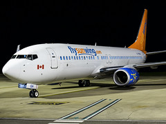 Sunwing Airlines   Boeing 737-86J(WL)   C-FWGH (Bradley at EGSH) Tags: egsh night nightphotos nightphotography longexposure seconds tripod photgraphy photos avgeek aviation flying darkness moonlight norwichairport nwi norwich canon70d aircraft air plane flight jet sunwingairlines boeing73786jwl cfwgh canada
