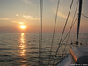 Sunset on the Way to Venice (David J. Greer) Tags: sail sailing cruise cruising sailboat boat yacht croatia adriatic family adventure travel mediterranean sunset foredeck calm sea seas horizon dinghy shrouds