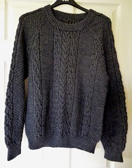 Aran charcoal fisherman wool sweater (Mytwist) Tags: charcoal grey moretreasuresforyou aranstyle wool sweater fashion retro knit design love passion gift cabled fisherman heritage donegal handgestrickt handknitted laine classic
