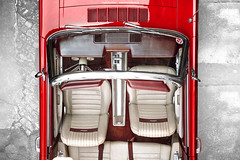 1966 Ford Mustang Convertible - Shot 2 (Dejan Marinkovic Photography) Tags: 1966 ford mustang cabrio convertible classic car red ponycar interior