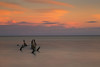 Sunset, Ambergris Caye (mclcbooks) Tags: sunset evening dusk sundown sky clouds posts ocean sea longexposure le landscape seascape belize ambergriscaye sanpedro