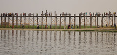 U Bein Bridge in Mandalay, Myanmar (phuong.sg@gmail.com) Tags: abstract amarapura ancient architecture asia attraction beautiful bridge burma dusk evening fishing footbridge lake landmark light longest made man mandalay myanmar nature people reflect reflection river rural scene silhouette sky structure sunrise sunset sunshine tourist travel ubein ubain view walking water wood wooden