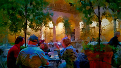 lunch on the piazza (boriches) Tags: restaurant courtyard italian museum art nelsonatkins kansascity