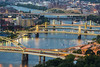 Pittsburg Bridges (Tony Shi Photos) Tags: pittsburgh pa pennsylvania pennstate penn steel cityscape buildings illuminated lights duquesneincline mountwashington bridges river