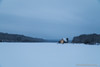 wreathless blue hour (Brian M Hale) Tags: old stone church wachuset reservoir boylston ma mass massachusetts new england newengland usa outside outdoors frozen snow snowing ice water wide brian hale brianhalephoto orton blue hour