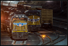 (K-Szok-Photography) Tags: trains transportation train locomotives nightimages nightshots night railroads emd railyards railroadcars trainsatnight inlandempire sbcusa socal california canon canondslr canon50d 50d kenszok kszokphotography