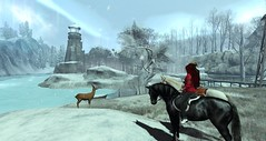 A moment in time (Sam Rougefeu) Tags: secondlife slhorses riding exploring