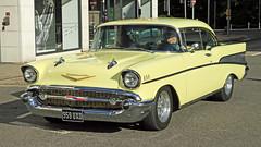 1957 Chevrolet Bel Air Sport Coupe 959 UXD (BIKEPILOT, Thx for + 4,000,000 views) Tags: 1957 chevrolet belair sportcoupe 959uxd camberleycarshow 2017 camberley surrey uk england britain car vehicle transport automobile americana vintage classic yellow