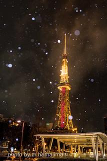 雪の名古屋 テレビ塔_K1_10791