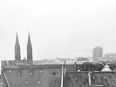 On top, (marfis75) Tags: skyline oben top roof dächer white wetter kirche innenstadt city coty stadt wiesbaden day tag marfis75 mist nebel neblig wolkig fog