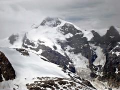 Piz Bernina & Biancograt (4049m) (Daphne-8) Tags: diavolezza morteratsch bernina graubünden grisons snow schnee summer sommer schweiz switzerland suisse svizzera svizra zwitserland alps alpen alpes mountains range bergen montañas montagnes landscape persglacier pizbernina gletscher