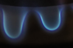 flamed out - what a gas! (axiepics) Tags: flames gas gasflames stove burner blue red macromondays flamed hmm