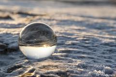 Sun Up (Gavmonster) Tags: gswphotography nikon d7500 nikond7500 iceland glacier icecave vatnajokull orb sphere globe reflecion upsidedown sun snow depthoffield glass ball