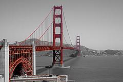 Golden Gate bridge en rouge et noir (R. ANDROL) Tags: goldengate sanfransisco