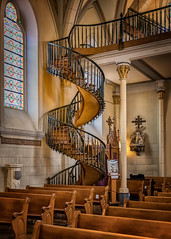 Miraculous Staircase (KPortin) Tags: lorettochapel santafe newmexico staircase benches legend