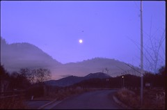 (✞bens▲n) Tags: pentax lx velvia 100 fa 43mm f19 limited film analogue multiexposure moon road mountain asama
