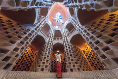 Pigeon Tower, Meybod, Yazd Province, Iran (Feng Wei Photography) Tags: ancient persianculture middleeast lowangleview nopeople yazd persian landmark colorimage tourist islamic female indoors famousplace builtstructure dovecotetower iranianculture travel traveldestinations islamicculture pigeontower architecture islam meybod tourism iran horizontal irn