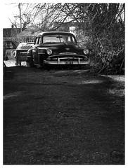 Plymouth (daveelmore) Tags: plymouth car automobile sedan antique vintage blackwhite bw vehicle alley lumixleicadgmacroelmarit45mm128