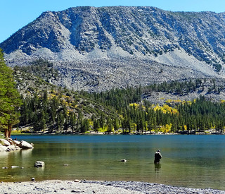 Casting Flies, Rock Creek Lake, Sierra Nevadas 10-17