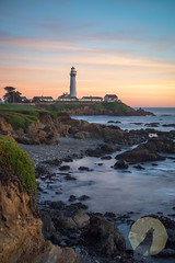 Getting to the Point (Dancing.With.Wolves) Tags: lighthouse light sun set landscape ocean tides swell waves 10 stop filter clouds wolves color long exposure green ice plant coast tide pools rocks art create cest la vie north west california