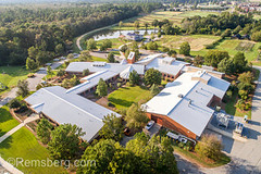 Aerial view overlooking academic building on University of Georgia Tifton Campus, Costal Plains, campus. (Remsberg Photos) Tags: farm georgia peanuts research tifton uga outdoors agriculture aerial drone universityofgeorgiatifton universityofgeorgia campus education building builtstructure college learning school academia usa