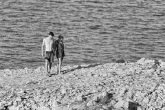 0673 Adriatic Love (Hrvoje Simich - gaZZda) Tags: person summer stones couple love blackwhite monochrome krk croatia europe nikon nikond750 sigma150500563 gazzda hrvojesimich