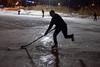 Une patinoire la nuit, Parc Jarry. (Jacques Lebleu) Tags: parcjarry patinoire hockey étang villeray hiver
