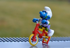 Bicycle Safety (linda_lou2) Tags: 365the2018edition 3652018 day11365 11jan18 odc safetyprotection bicyclesafety toy bicycle smurf 365toyproject 11365