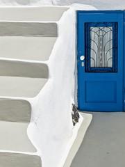 Sans issue (Nicojuli) Tags: porte escalier grèce blanc bleu