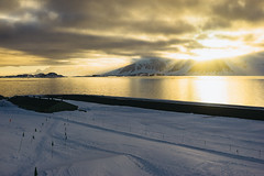 Rothera Golden Hour (JeffAmantea) Tags: rothera antarctica station antarctic sony a7ii alpha sonyalpha metabones nikon nikkor 50mm 14 golden hour sunset clouds ice snow mountains cloud sun water ocean cold landscape outdoor outside explore runway british research