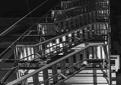 Looking up (Tobias Dander) Tags: tobiasdander scaffolding lookingup blackandwhite bnw bw schwarzweiss monochrome perspective lowlight night canon70d