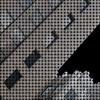 diagonal weave (msdonnalee) Tags: urbanarchitecture urbangeometry digitalfx digitaleffects blackandwhite diagonal artdigital