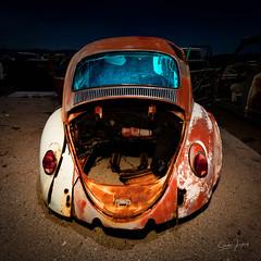 Shell of a bug. 2018 (Aztravelgrl (Forgotten Places Photography)) Tags: california canon5dmarkiv reallyrightstuff sliktripod usa abandoned longexposure lowlight nightphotography vwbug vw lightpainting