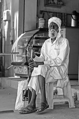 The Moslem Gentleman from Hassan (Anoop Negi) Tags: portrait bnw monochrome black white old man moslem ezee123 anoop negi photo photography hassan karnataka india