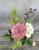Austin rose and hydrangeas (Albena Bojidarova) Tags: david austin rose hydrangeas gumpaste sugar flowers flowerscake