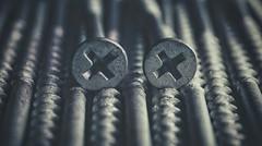 The XX (orbed) Tags: fasteners macromondays screws xx metal texture thread screw cross x