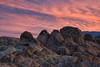Dawn at Heart Rock (SandyK29) Tags: alabamahills heartrock dawn pinksky dramaticsky sunrise rocks hills lonepine california clouds nature hike movieroad sierranevada morning light morninglight